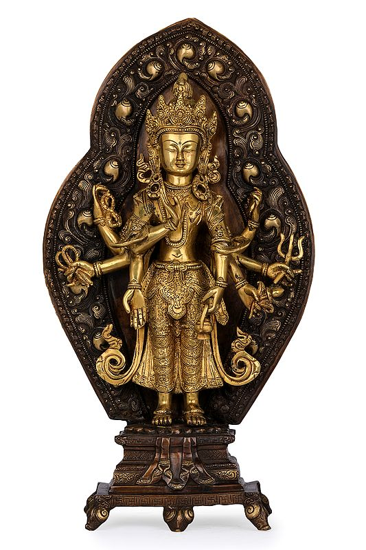 (Tibetan Buddhist Deity) Bodhisattva Avalokiteshvara as Amoghapasa