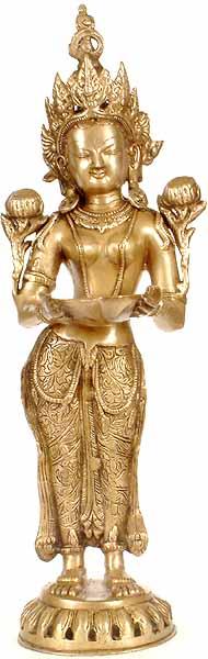 Tibetan Buddhist Tara with Lamp