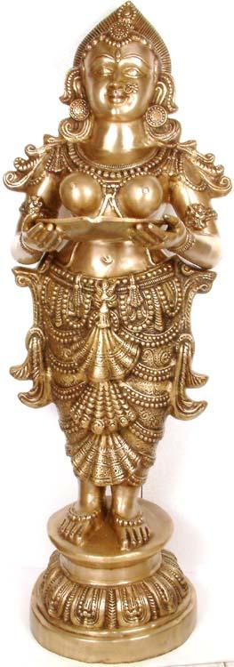 Large Size The Auspicious Image of Deepalakshmi