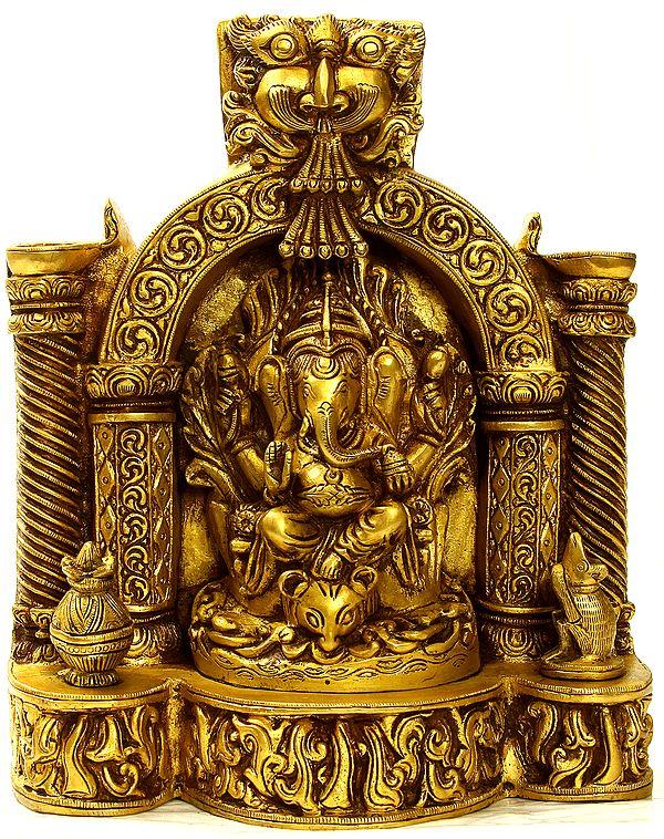 Lambodara Ganapati Enshrining Vedika