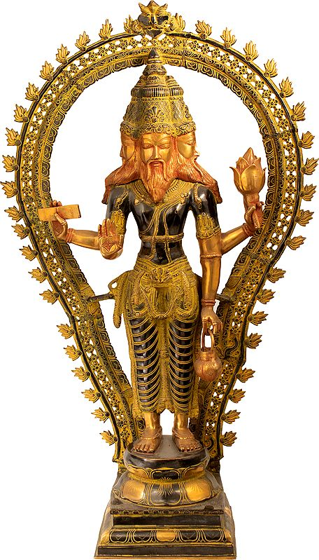 Brahma, One of the Trimurti – The Three-Aspected Supreme (Large Size)