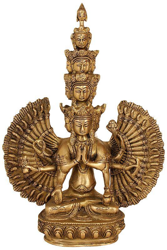 Tibetan Buddhist Deity Eleven Headed Avalokiteshvara