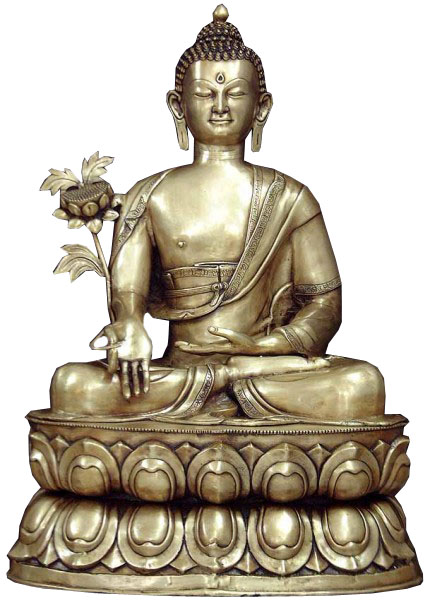 Tibetan Buddhist God Large Size  Buddha Who Grants Succor From Both Spiritual and Physical Sickness