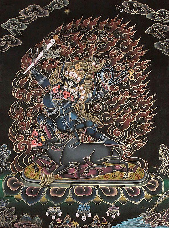 Dharmaraja Yama with Yami