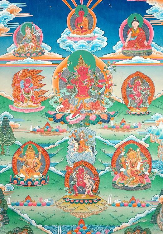 Red Tara Kurukulla with Wrathful Deities