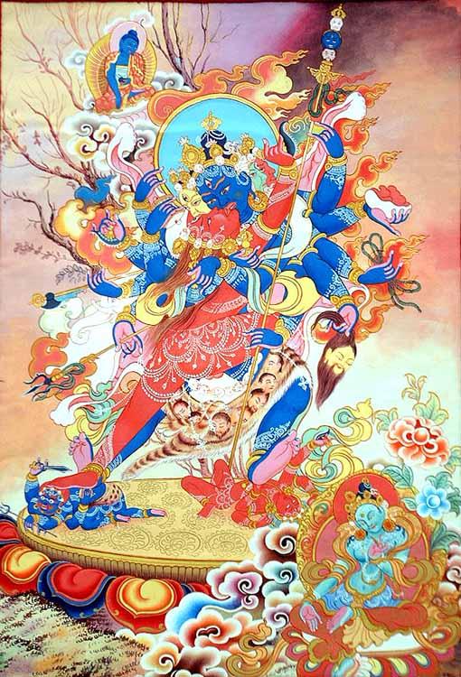 Shamvara and Vajravarahi in Yab-Yum