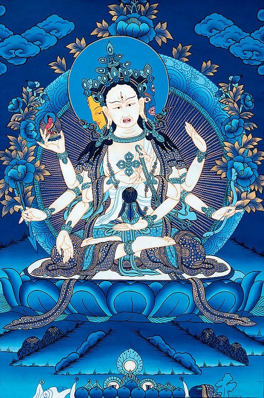 Tibetan Buddhist Deity Ushnishavijaya