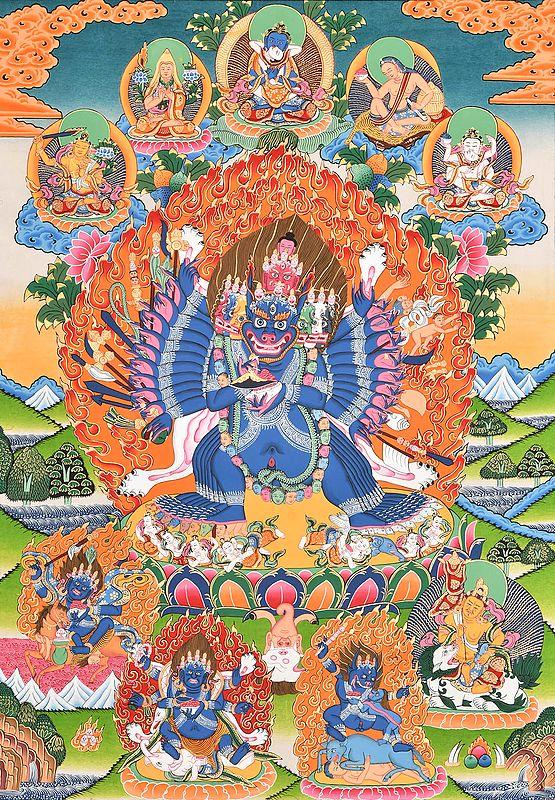 Tibetan Buddhist Wrathful Deity Yamantaka