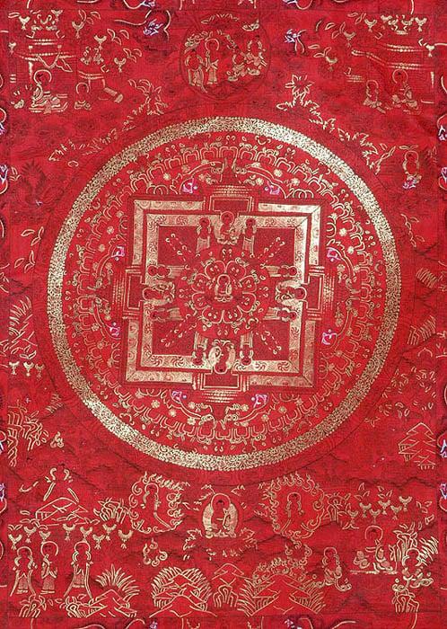 The Red Mandala of Buddha