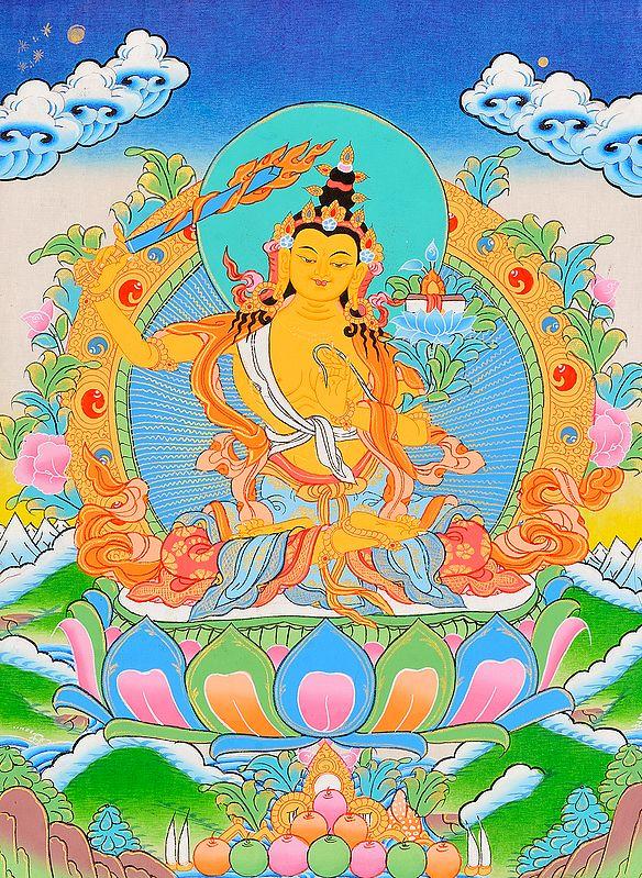 Arapachana Manjushri -Tibetan Buddhist Deity