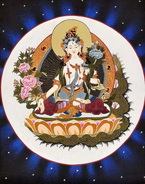 Tibetan Buddhist Goddess White Tara -Goddess of Long Life