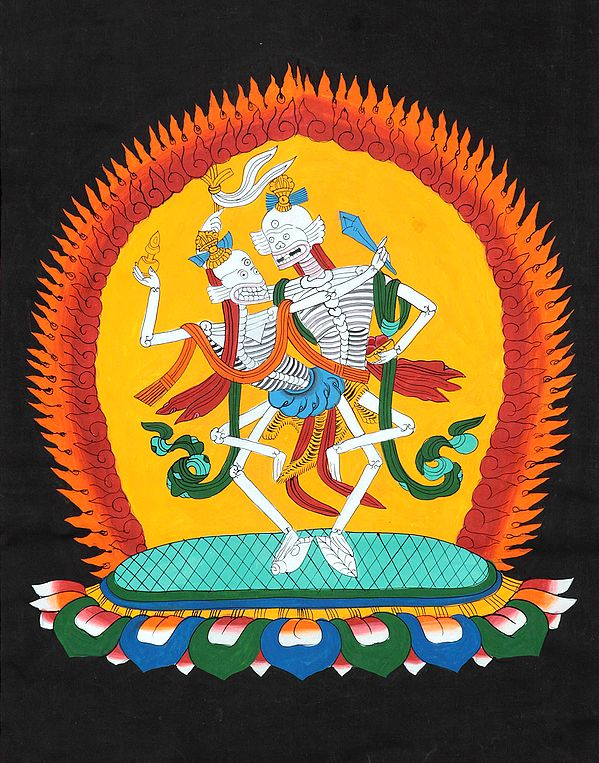 The Tibetan Buddhist Citipati (The Lord or Master of the Cemetery)