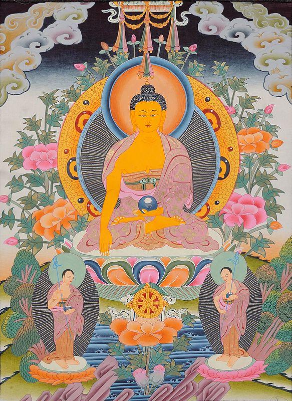 Buddha and His Two Disciples (Tibetan Buddhist )