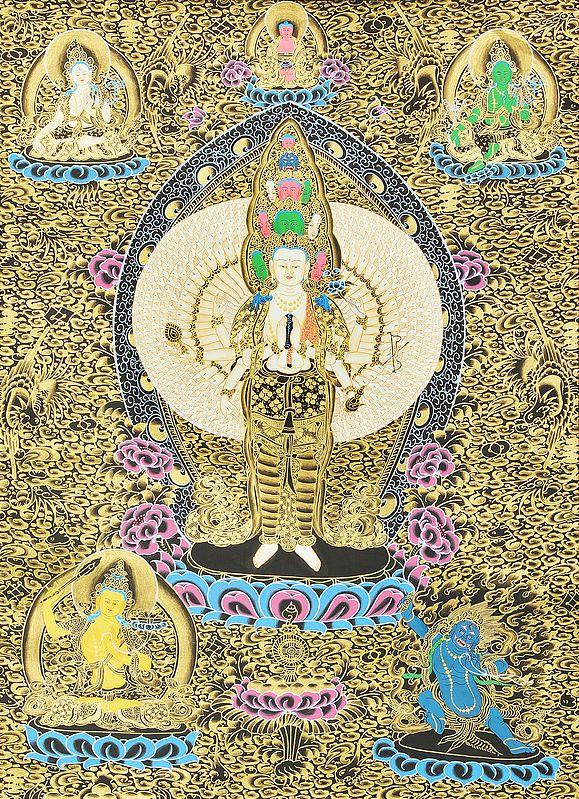 Thousand Armed Avalokiteshvara (Tibetan Buddhist Deity)