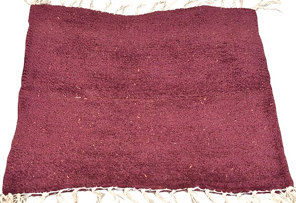 Plain Meditation Aasan from Mirzapur with All-Over Weave