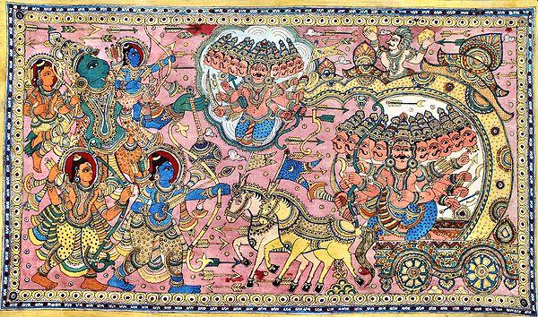 The Battle Between Rama and Ravana - Large Size