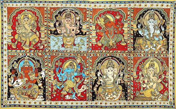 Eight Forms of Ganesha