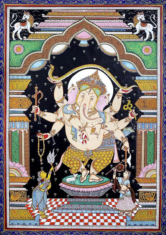 The Princely Form Of Nrtya Ganesha