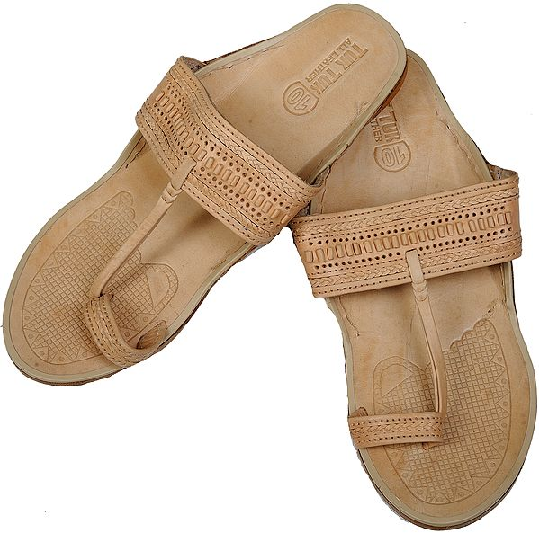 Winter-Wheat Kohlapuri Men's Chappals