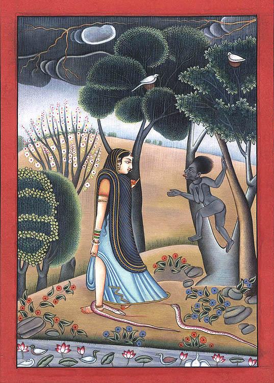 A Yogini's Encounter with Goddess Kali
