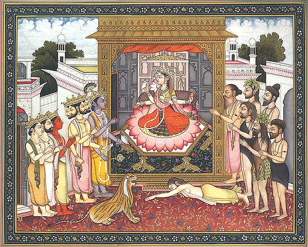 Gods Paying Homage to Devi