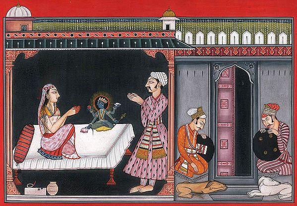 God Appears in the Vision of Devaki and Vasudev….