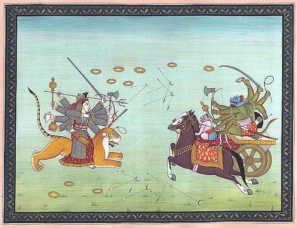 Durga Slaying Demon