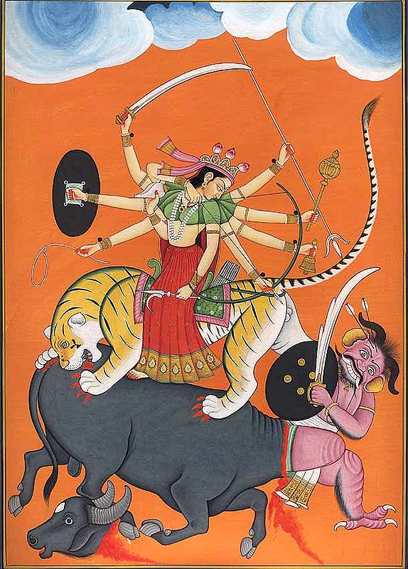 Durga Slays the Demon Mahishasur