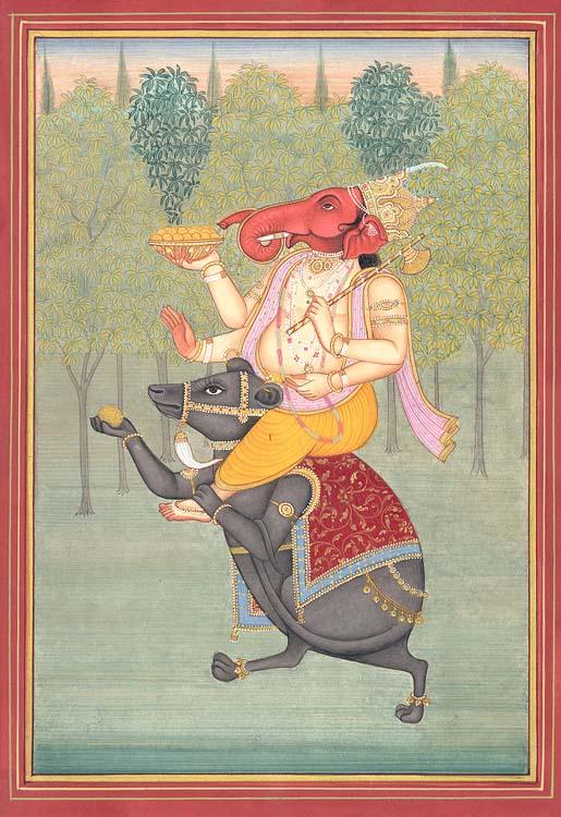 Ganesha on His Mount