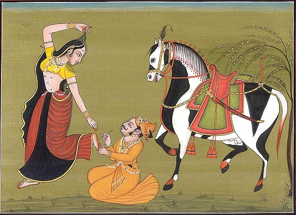 Hero Removing a Thorn from the Foot of his Heroine