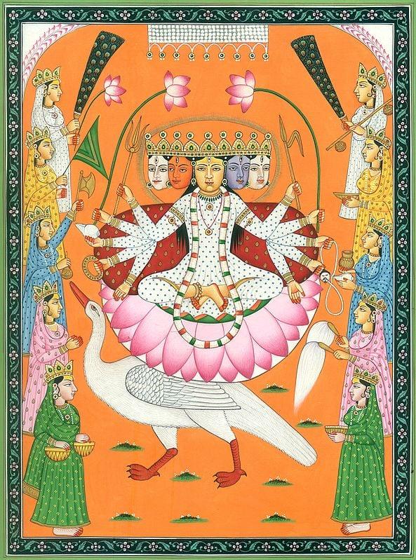 Five-Faced and Ten-Armed Gayatri