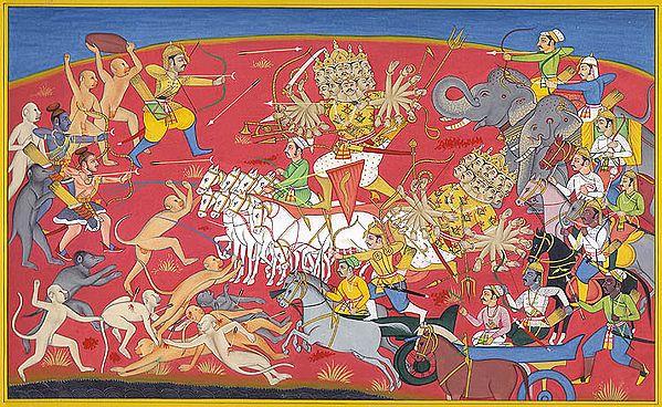 Rama Killing Ravana