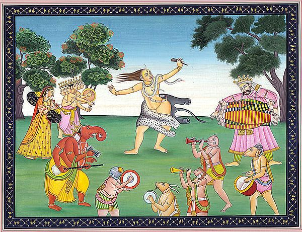 Lord Shiva in Ecstatic Dance