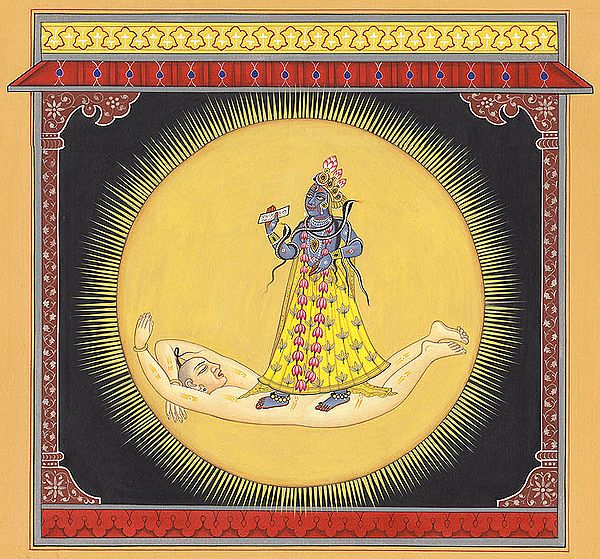 Devi Bhadrakali Contained In Solar Resplendence (Tantric Devi Series)
