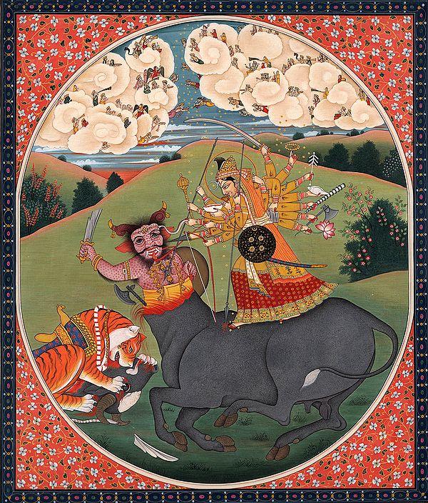 The Eighteen-Armed Mahishasura-Mardini