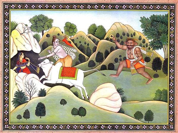 Demon Vraka Chasing Shiva
