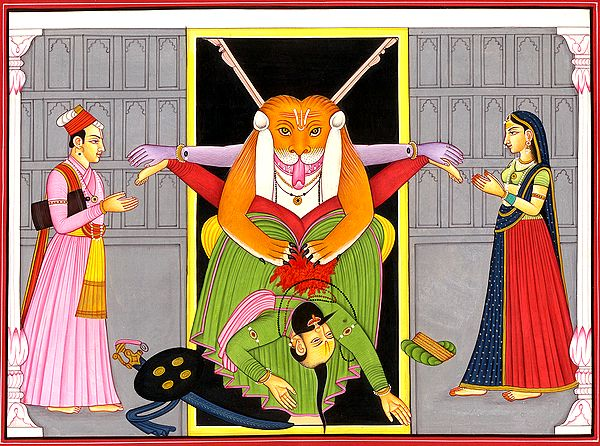 Narasimha Killing the Demon Hiranyakashipu