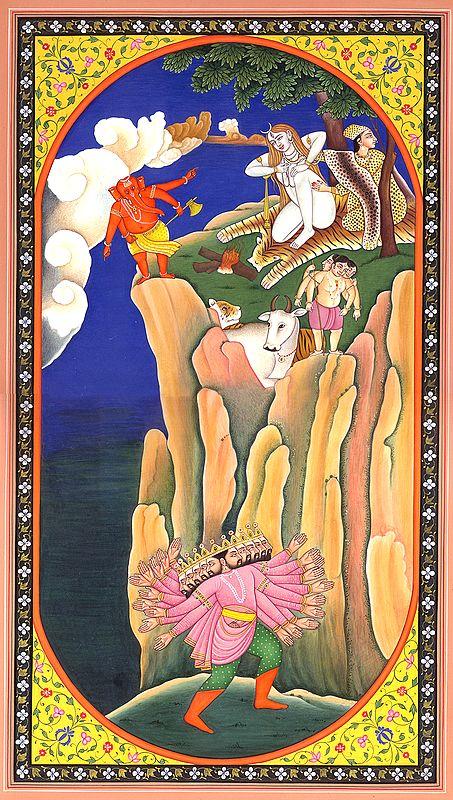 Ravana Shaking Mount Kailash