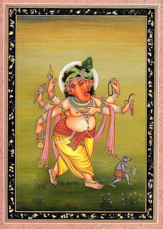 Ganesha Traverses The Countryside