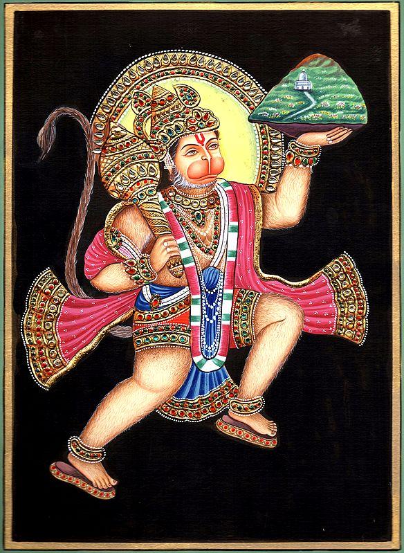 Lord Hanuman Carrying Sanjeevni Booti