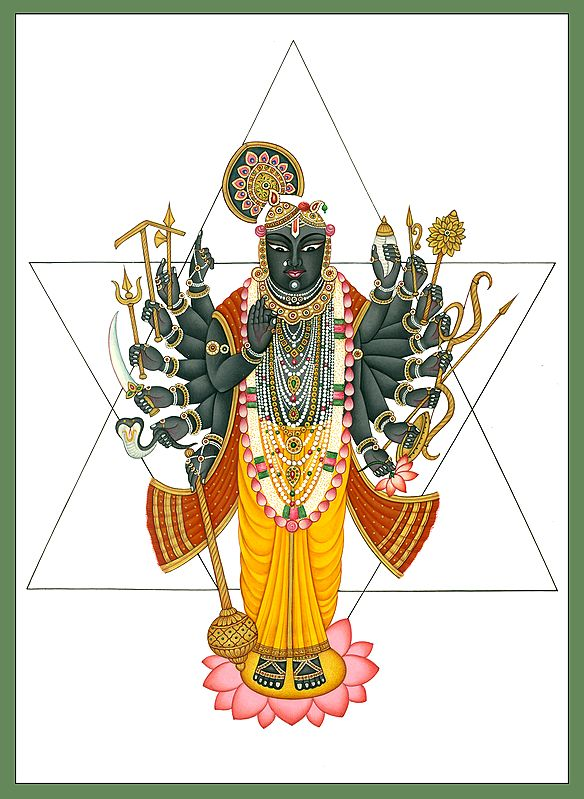 Krishna's Tantrika Manifestation (Sixteen-Armed)