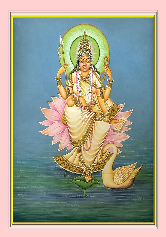 Saraswati, Emerging From The Glamour Of The Twilight