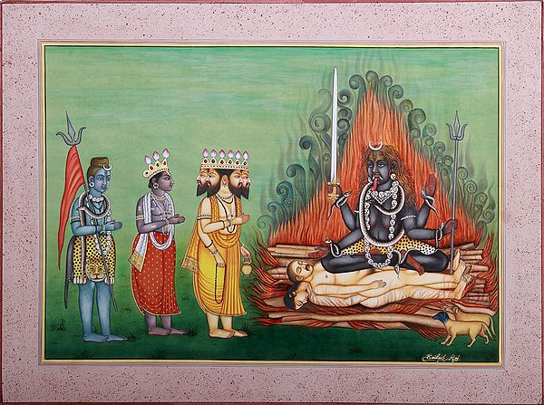 Brahma-Vishnu-Shiva In The Worship Of Devi Kali