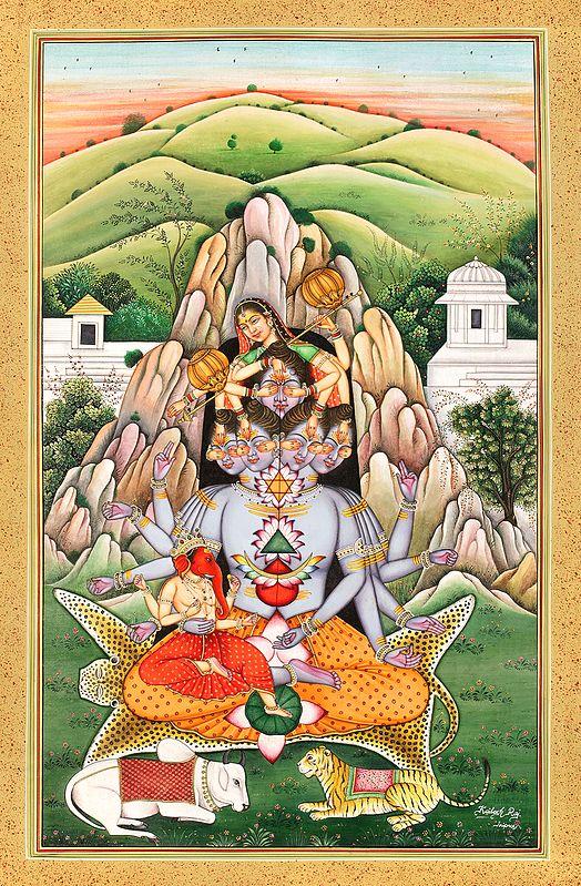The Birth Of Andhaka, From Devi Parvati's Playfulness Upon Mandara Parvat