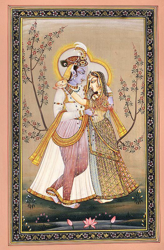Radha Krishna in The Garden of Love