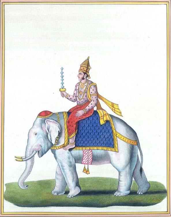 Indra Riding Airavata Holding the Vajra