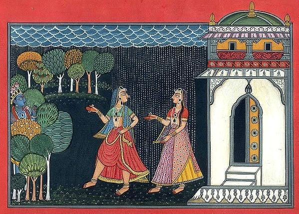 Krishna Meets Gopis
