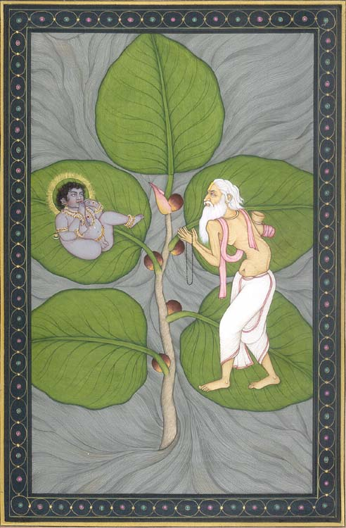 Krishna on a Fig Leaf