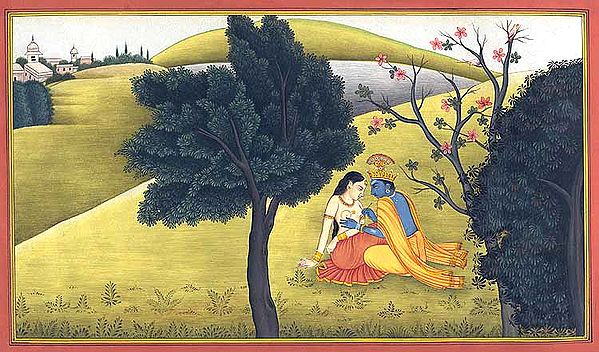 Krishna Paints Radha's Breast