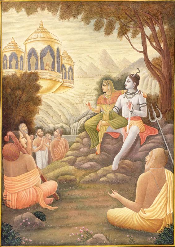 Lord Shiva Awaiting Tripura to Join with Each Other